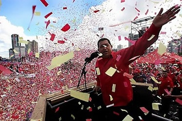 Marking 13 years of the Bolivarian Revolution earlier this year (archive)