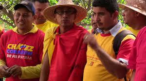 Orlando Zambrano (centre), spokesperson for the CRBZ, said that the march highlighted Venezuela's high levels of political participation (Aporrea)