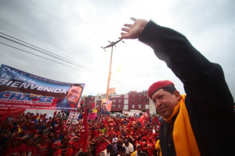 Chavez in a campaign rally in San Felix, eastern Venezuela, on Saturday 18 August (Comando Carabobo)