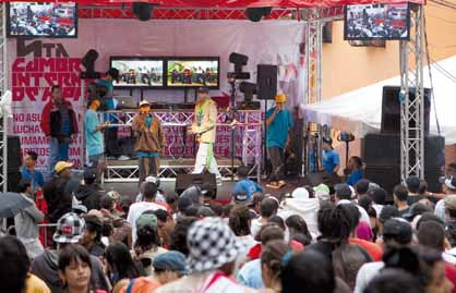 An event by Hip Hop Revolucion in Caracas, one of the groups supporting Cause, a new network of activists supporting alternative youth culture in Venezuela (Jesus Castillo/Ciudad CCS)