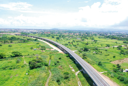 A section of the newly constructed railway (Ciudad CCS)