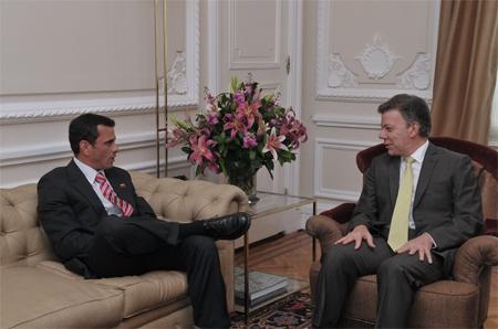 Capriles met with Santos in Bogota on Wednesday (noticierodigital)