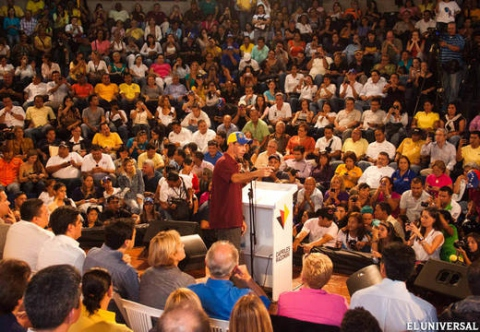 Henrique Capriles launched his re-election bid for Miranda governor (El Universal)