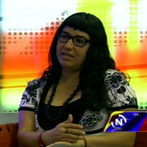 Tatiana Rojas, of the Skirts in Revolution group (VTV)