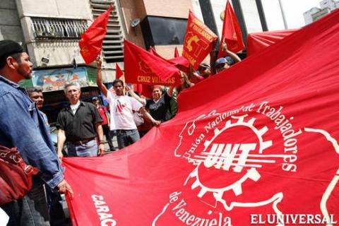 Unete labor activists march in Caracas (archive)