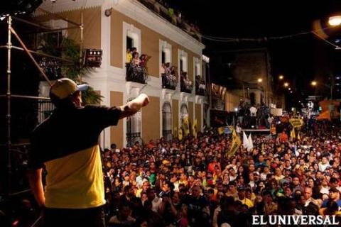 Henrique Capriles in his final campaign rally in Miranda (El Universal)