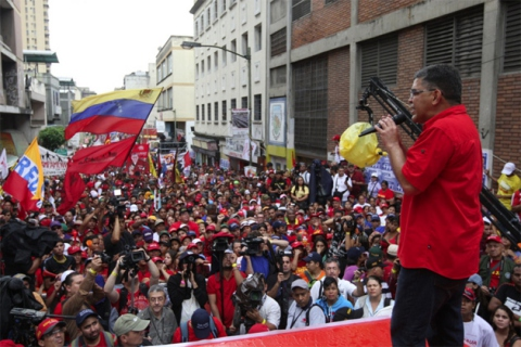 Elias Jaua at his closing campaign event in Miranda state (Prensa Elias Jaua)