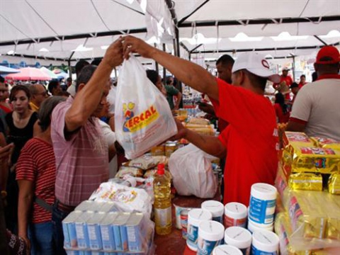 The Venezuelan government distributes subsidized food through government-run supermarkets such as Mercal and Pdval (AVN)