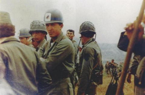 An undated photgraph of Chavez during his army years