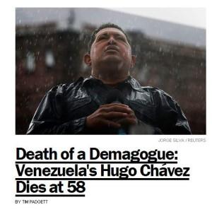 "Time's website described Chavez as a ""Demagogue"" (FAIR)"