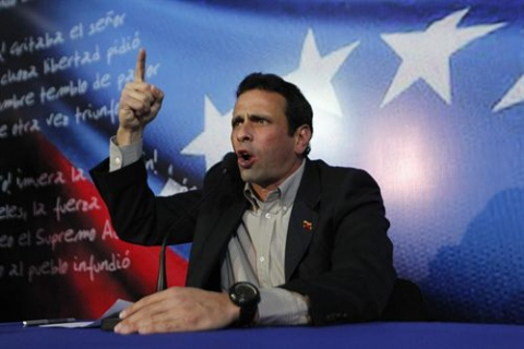 "After previously backing the proposed audit, yesterday Capriles described the process as a ""joke"", and has now pledged to take legal action (Reuters)"