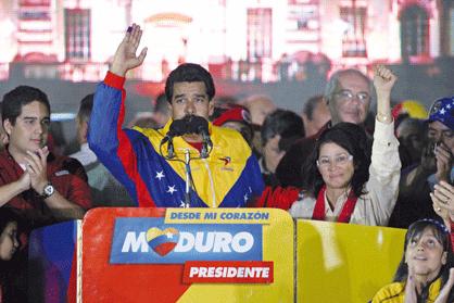 Nicolas Maduro making his victory speech (MARCOS COLINA/P. MIRAFLORES/P. PRESIDENCIAL)