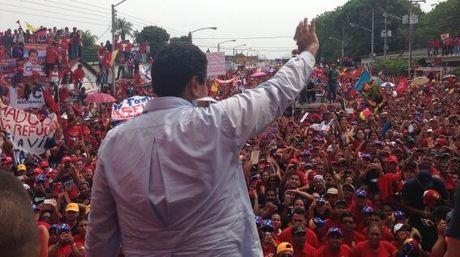 Maduro campaigning in Barinas today (@Nicolas Maduro)