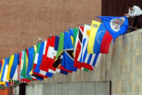 The OAS had heard statements of support for Maduro's presidency from Uruguay, Argentina, Colombia, Brazil and the Dominican Republic (agencies).