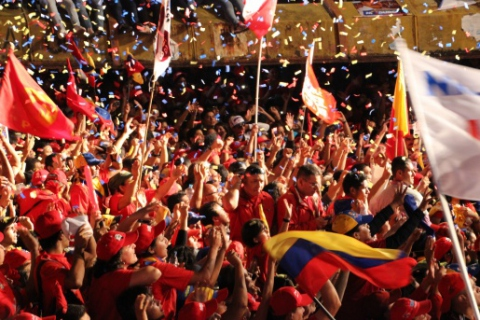 Thousands of Chavistas rallied when Nicolas Maduro visited Merida on April 3 (Ryan Mallett-Outtrim/Venezuelanalysis)