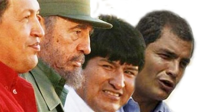 Former and current leaders of the Latin American left: Hugo Chavez, Fidel Castro, Evo Morales, and Rafael Correa (archives)