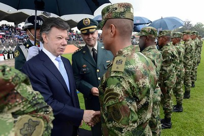 Santos said at the military ceremony that the Colombian government would sign an agreement of cooperation with NATO (SIG)