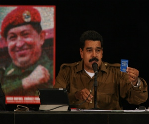 "Venezuelan president Nicolas Maduro announced plans yesterday to intensify the battle against food shortages and what he called ""sabotage"" to the economy (Prensa Presidencial)"