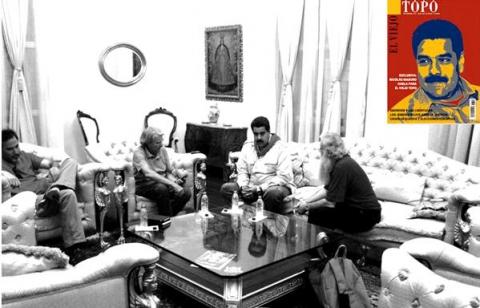 Maduro talking with Topo journalists (El Viejo Topo)