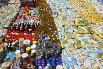Food products seized from alleged hoarders by the National Guard in June (VTV)