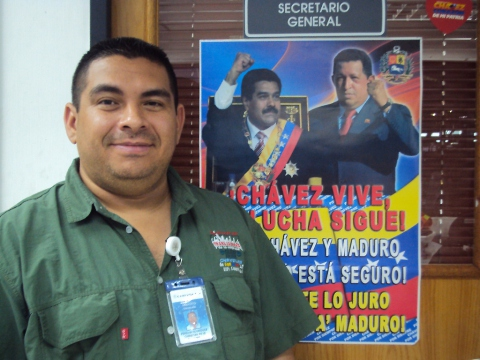 Christian Pereira, the Secretary General of the union of workers at Chrysler Venezuela and part of the Promoting Team of the new federation (Aporrea.org)