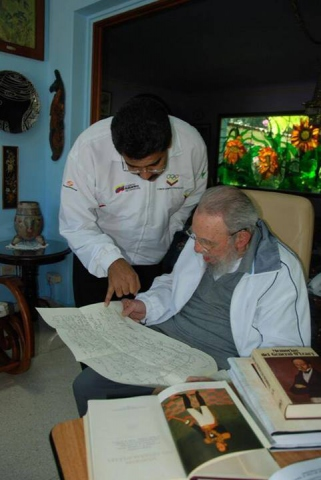 Maduro and Castro met over the weekend to commemorate the founding of ALBA (Cuba Debate)