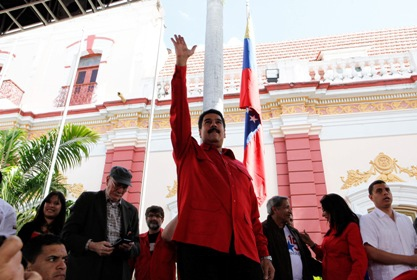 "President Nicolas Maduro has announced the restructuring of the pro-government Great Patriotic Pole coalition, arguing the bloc should achieve ""popular revolutionary hegemony"" in Venezuelan politics (Ciudad CCS / Reinald Linares)"