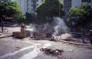 Street barricade, Merida, Venezuela (Pedro Moreno)