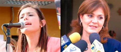 Patricia Ceballos (left) and Rosa de Scarano (right) will run for the MUD in by-elections in San Cristobal and San Diego respectively (El Periodiquito).