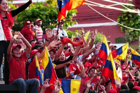 Chavista supporters in El Vigia (archive)