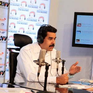 Maduro announced details of the conference via his radio programme last night (CDO)
