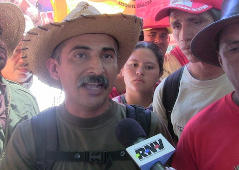 """Jose Tapia Coiran: """"Our production is for the people, for the state, for the institutions. These lands were rescued."""" (Aporrea Tvi)"""