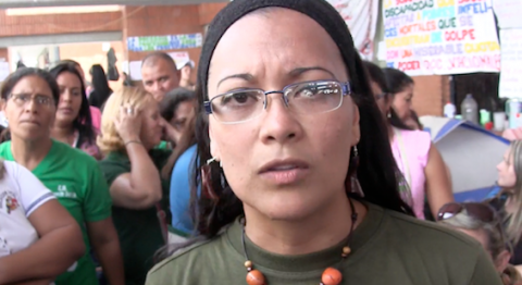 Yenny Sanchez, an educator and spokesperson for the Education Workers' Struggle Collective. (Aporrea tvi)
