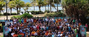 Participants in the July social movement gathering on Isla Margarita, Venezuela, to discuss their demands ahead of UN climate talks in December (FOEI.org)