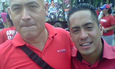 Jose Odreman, left, with slain legislator Robert Serra, in an image posted by Odreman on Twitter. (Photo: Twitter)