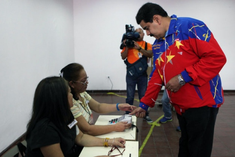 """Speaking to national media yesterday, Venezuelan president Nicolas Maduro, who is also PSUV leader, welcomed the internal election as """"extraordinary, groundbreaking and historic"""". (Ciudad CCS)"""