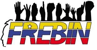 Logo for the the Bolivarian Front of Scientific Researchers, Innovators and Workers (FREBIN)