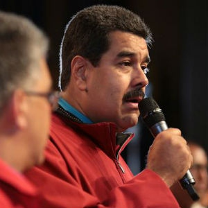 President Maduro thanks the G77 and other regional blocs for their support on Wednesday evening. (Prensa Miraflores)