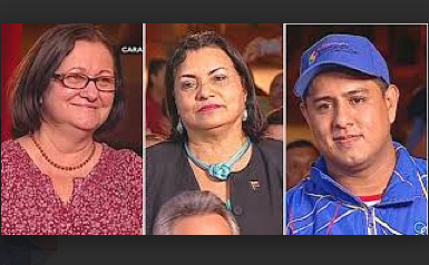 The new ministers from left to right; Desiree Santos, Gladys Requena and Pedro Infante (Albaciudad)