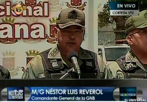 Nestor Reverol, Commanding General of Venezuela's National Guard. (Globovision/El Universal)