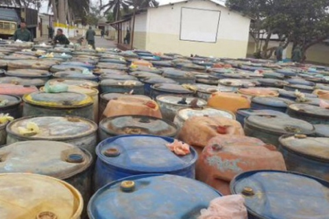 176,000 liters of gasoline confiscated by authorities in Zulia state (@VTVcanal8)