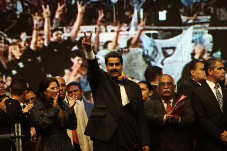 Newly elected President Maduro in 2013.  (Demotix/ Filippo Florini).