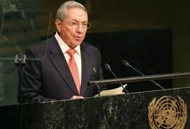 Raul Castro address the 70th UN General Assembly (VTV)