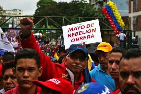 """May of Workers' Rebellion"". (Jonas Holldack/Venezuelanalysis)"