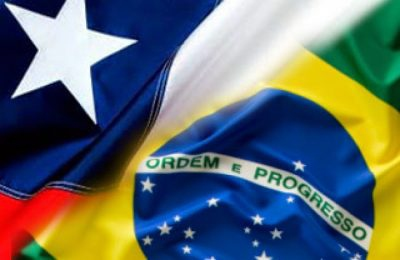 Artistic rendition of Chilean and Brazilian flags (Noticia Al Dia).