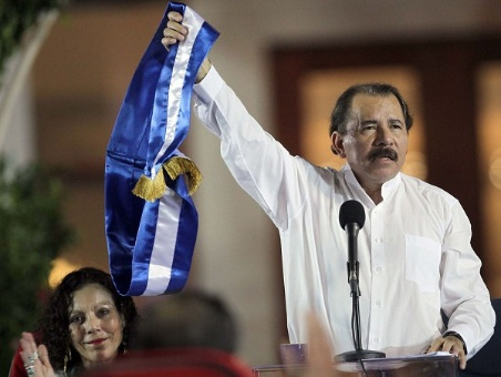 Nicaraguan President Daniel Ortega speaking following his reelection victory on Sunday. (Radio La Primerisima)
