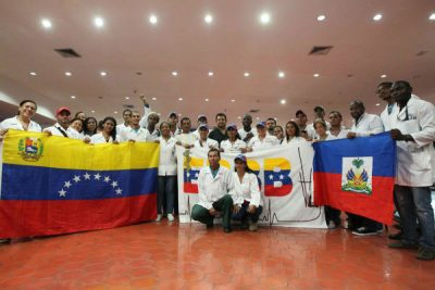 The Venezuelan medical brigade composed of Haitian and Venezuelan doctors returned on Monday from its medical mission (Correo del Orinoco).