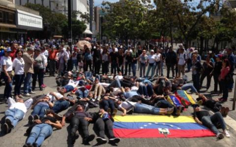 Opposition supporters protesting in Chacao. (El Correo del Orinoco)