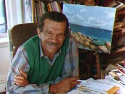 Santa Lucian poet Derek Walcott. (Getty Images)