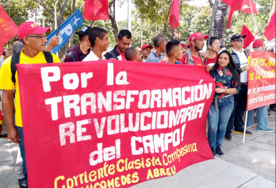 Justice in cases of campesino evictions and assassinations was another demand from protesters. (Ricardo Vaz)